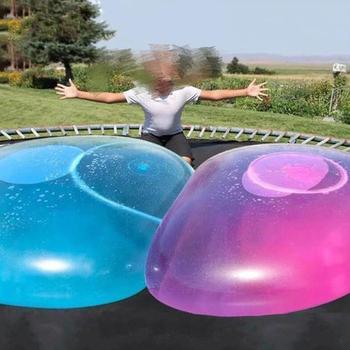 S M L rozmiar dzieci na zewnątrz miękka woda powietrze wypełniona kula kąpielowa wysadzić nadmuchiwana zabawka zabawa impreza gra świetne prezenty hurtownia tanie i dobre opinie 4-6y 12 + y 7-12y CN (pochodzenie) Wubble bubble ball Unisex Piłka plażowa dot eat Z tworzywa sztucznego