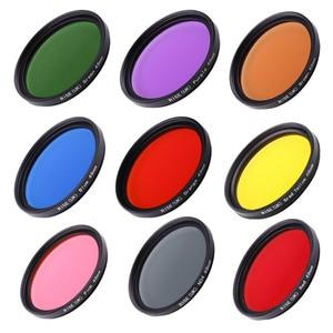 Image 2 - Full Color DSLR Camera Lens Filter 49mm 52mm 55mm 58mm 62mm 67mm 72mm 77mm Blue Red Orange full color Lens Filter