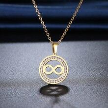 CACANA 316L из нержавеющей стали ожерелье с украшением в виде кристаллов Стразы номер