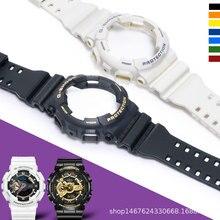 Совместим с ремешком Casio, мужской ремень, черный воин, черный и золотой, белый тигр, Ga110, оригинальный сменный силиконовый чехол для Casio
