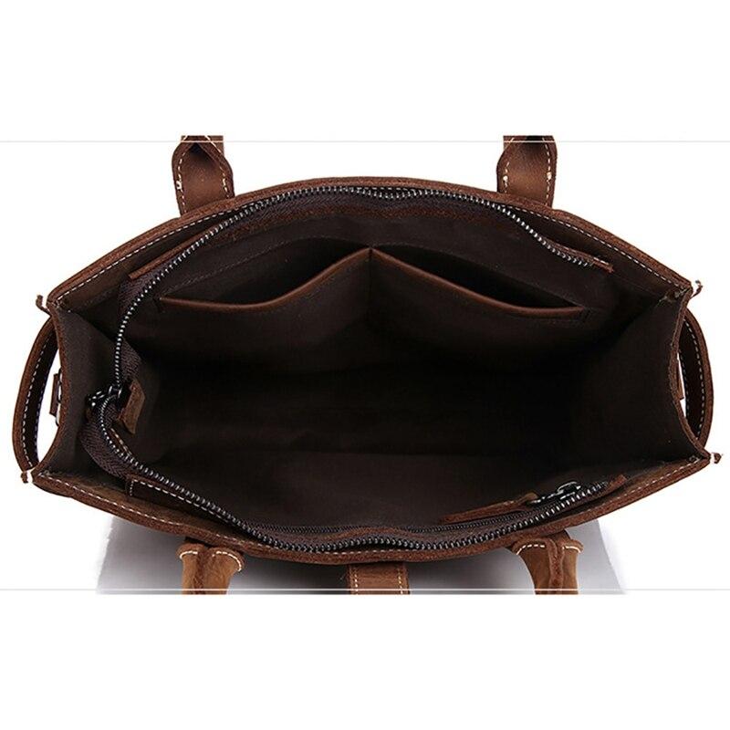 BAOERSEN, мужская сумка через плечо, сумка тоут, Crazy Horse, кожаный деловой портфель, для мужчин, планшет, сумка мессенджер, на плечо, с верхней ручкой, сумки - 2