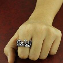 Мужское кольцо из нержавеющей стали qmhje обручальное с короной