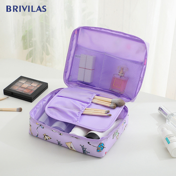 Brivilas fashion makeup bag for women travel wash storage cosmetic waterproof  portable multifunction toiletry female - discount item  29% OFF Special Purpose Bags