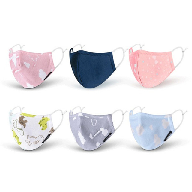 PM2.5 Boy Girl Cotton Kid Mask Reusable Children's Mouth Mask 4 Layers Face Mask Dust Pollution Proof Mask Filter Mask 1