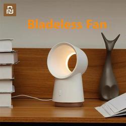 Nowy Youpin Happy Life 3 w 1 Mini wentylator bezłopatkowy wentylatory biurkowe z oświetleniem LED nawilżacz powietrza