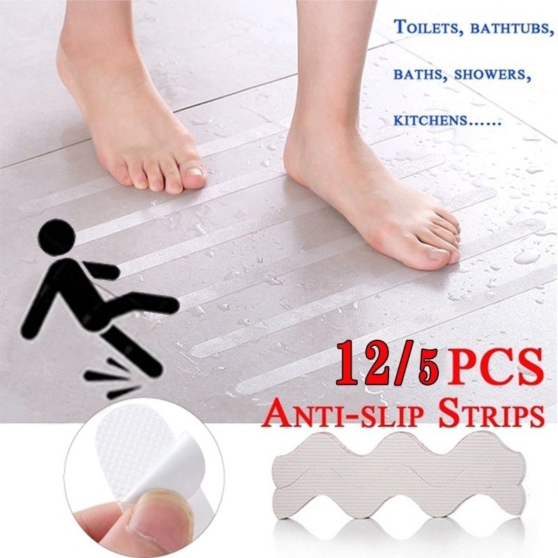 Non-slip Shower Strip Transparent Wavy Non-slip Sticker Bathtub/Step/Baby  Anti-fall Purpose High Strength Paste Safety Tape Pad
