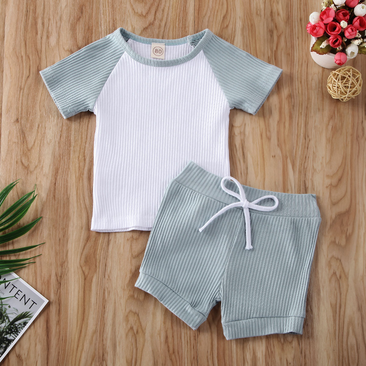 Pudcoco Toddler Baby Boy Girl Clothes Short Sleeve T-Shirt Tops Short Pants 2Pcs Outfits Cotton Clothes Causal Set