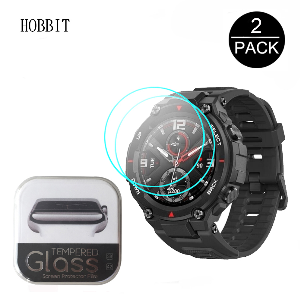 2pcs For Huami Amazfit T-Rex Tempered Glass Screen Protector For New 2020 CES Amazfit T Rex Smart Watch Protective Accessories