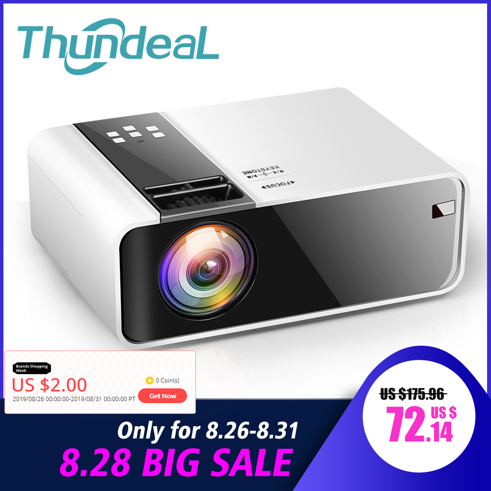 Thundeal Wifi Projector Game Video Native Movie TD90 HDMI Home-Cinema Android 1280x720p
