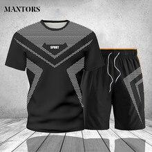 Roupas masculinas agasalho homem marca dois pieces casual moletom masculino roupas esportivas ginástica suor terno t-shirts shorts ao ar livre