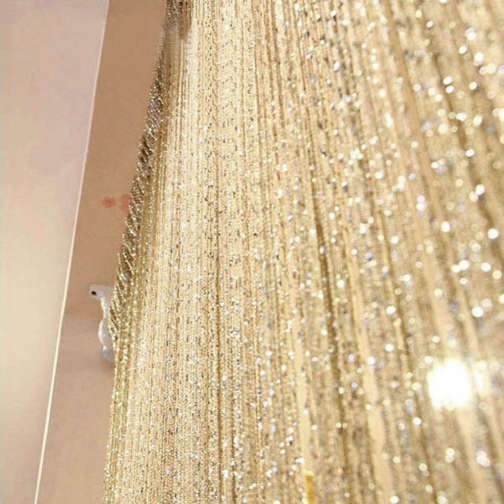 200cm*100cm Shiny Tassel Flash Line String Curtain Window Door Divider Room Divider Home Hotel Door Window Decorations Drop Ship