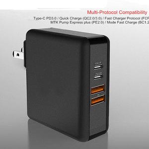 Image 4 - 61ワットusb cタイプc pd qc 3.0 4ポート高速充電器の電源アダプタmacbook proの空気のhpレノボasus xiaomi huawei社ラップトップタブレット