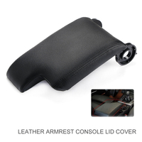 For BMW 1pc Black Car Armrest Center Console Lid Cover ABS Plastic Leather Support E46 3 Series 1999 2004 Accessories Parts