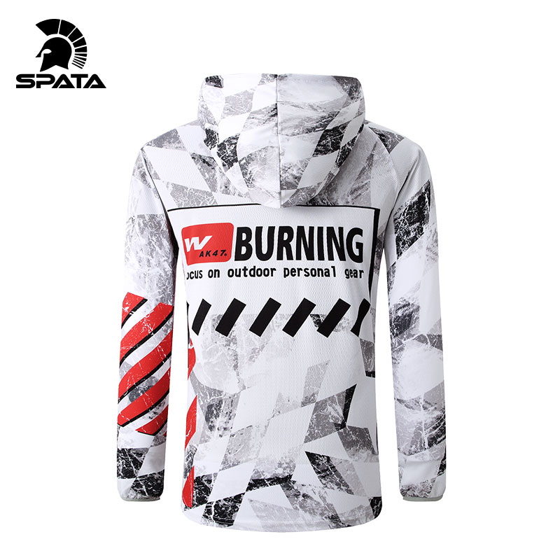 New Summer Fishing Jackets UV Protection Long Sleeve Hoodie For Men Quick Dry Moisture Wicking Jerseys Breathable Fishing Shirts