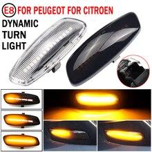 2pcs דינמי LED צד מרקר אור איתות מהדר מחוון אור Fit עבור פיג ו 308 3008 5008 RCZ סיטרואן DS3 DS4 C5