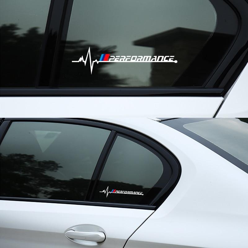 2pcs Car Window New Performance Emblem Sticker For Bmw X1 X3 X4 X5 X6 X7 E46 E90 E60 E39 F30 E36 F10 F20 E60 E92 E30 Car Styling