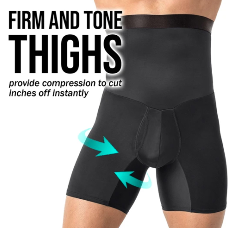 Newly Shaper For Gentlemen High Waist Compression Pants Slimming Quick Dry Body Shaping Short Pants FIF66