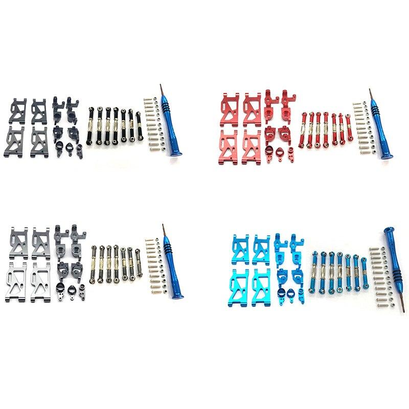 for WLtoys 1:14 144001 RC Car Upgrade Parts Metal Steering Swing Arm Base C Rear Hub Seat Servo Pull Rod