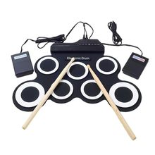 Electronic Drum Set /7 Electronic Drum /7 Tone /8 Demo Song/ 7 Drum Pads Metronome Function /External Instrument Input Available