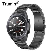 Unique Stainless Steel Watchband + No Gap Clips for Samsung Galaxy Watch 3 45mm Hand Detach Band Watch3 Quick Release Strap Belt