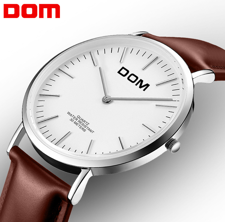 DOM Genuine Product MEN'S Watch Clean Steel Mesh Belt MEN'S Quartz Watch Simple Waterproof Watch M-36L-7M
