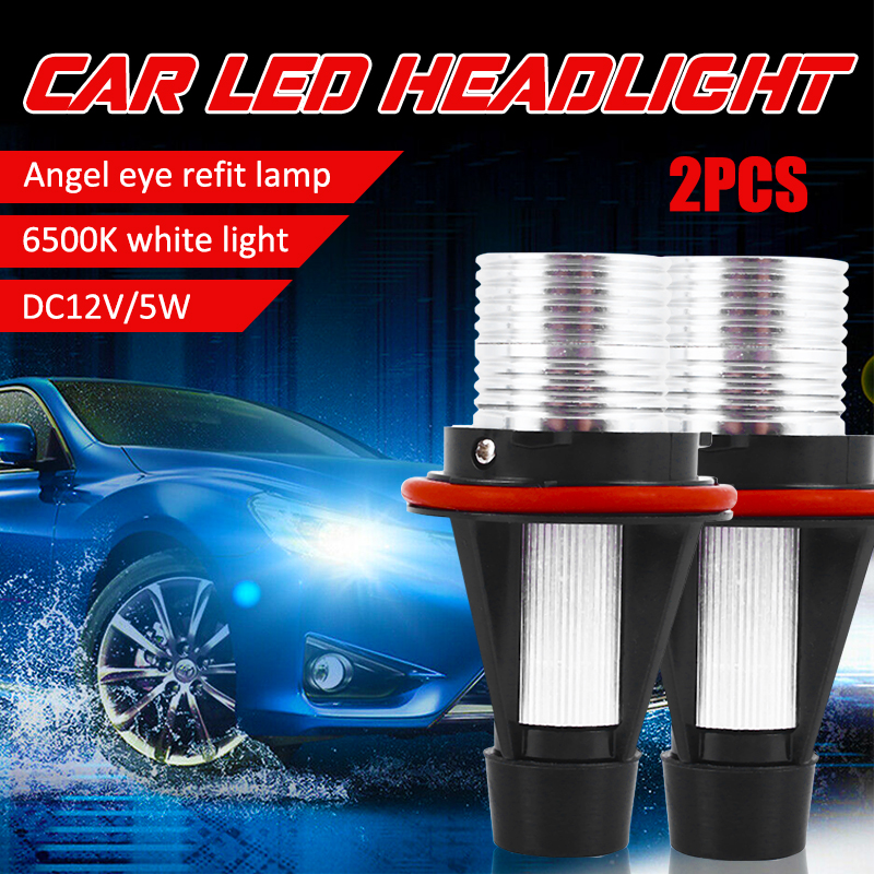 2PCS Error Free LED Angel Eyes Marker Light Bulbs For <font><b>BMW</b></font> E39 E59 E53 <font><b>E60</b></font> E31 E63 E64 E65 E66 E83 E87 525i 530i xi <font><b>545i</b></font> M5 image