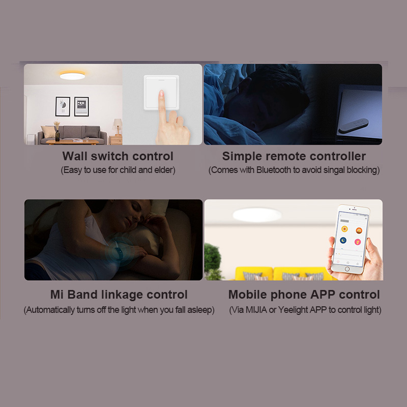 Yeelight jiaoyue 650 led inteligente luz de teto wifi bluetooth controle app com rgb lâmpada ambiente 50 w apoio alexa google casa - 5
