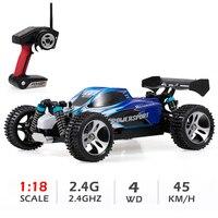 Wltoys-coche todoterreno a Control remoto para niños, Buggy de carreras de alta velocidad de 45 KM/H, 1:18, 2,4 Ghz, 4WD