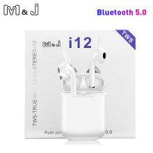 Asli I12 Tws Tombol Sentuh Mini Wireless Earphone Bluetooth 5.0 Headset untuk Android Xiaomi iPhone PK I20 I30 I60 I80 tws(China)