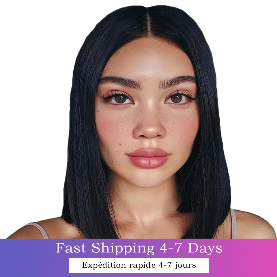 13x4 Bob Lace Front Wigs Short Bob Wig 8-14Inch with Bangs Lace Front  Wigs Pre Plucked 4x4 Lace Closure Bob Wigs 1