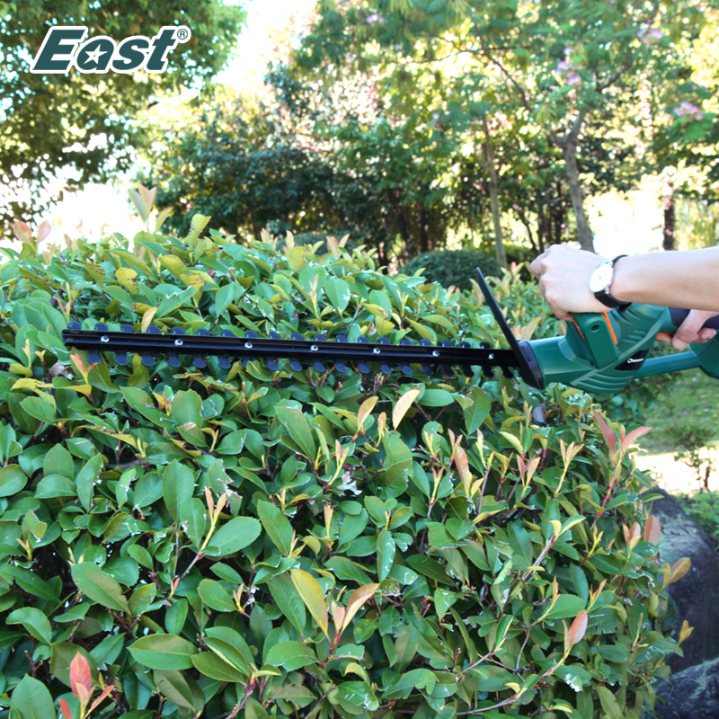EAST Power Tools 18V Li-ion Battery Cordless Hedge Trimmer Hand Pruning Tool Rechargeable Battery Cutter ET1406