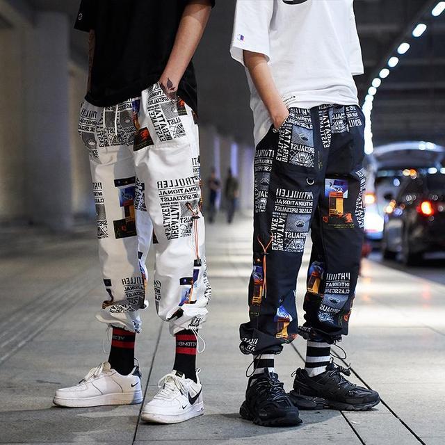 2019 New High Street Fashionable Printed Men's Jogger Trouser Hip Hop Homens Casual Bermuda Harem Pants Sweatpants Streetwear 3