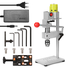 100W Aluminum Workbench Repair Tools Universal Bench Clamp Drilling Press Stand Hand Manual Bench Rocker Adjustable Drill Stand