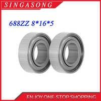 688zz 8*16*5(mm) 10 piezas de rodamiento de metal sellado de acero cromado rodamientos en miniatura piezas de transmisión de hardware