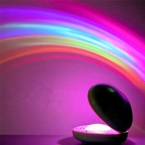 Новый цветной Радужный светильник, светодиодный ночник с usb-зарядкой, подходит для спальни, гостиной, дома