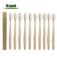 10pcs Bamboo Toothbrush Soft Bristle Healthy Dental Oral Care Eco Friendly Hygiene Toothbrushes Travel Portable Outdoor Tools 10pcs soft bristle children bamboo toothbrushes ecofriendly oral care travel toothbrush rainbow color kid's bamboo toothbrushes