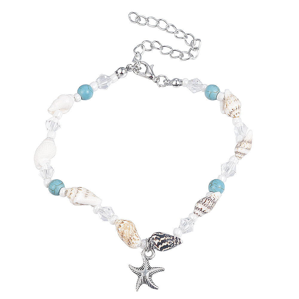 2019 New Simple Boho Women Bead Shell Anklet Ankle Bracelet Barefoot Sandal Beach Foot Jewelry 5