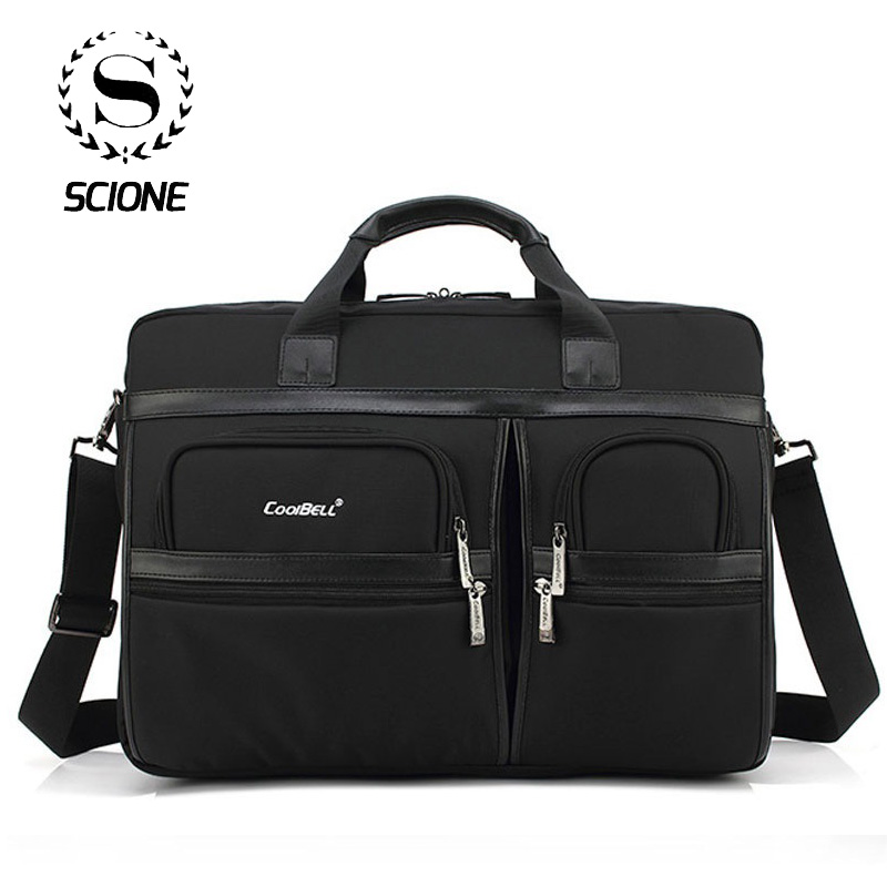 Scione Men Laptop Briefcases Office Bags For Men Women Large Shoulder Crossbody Bags Office Handbag