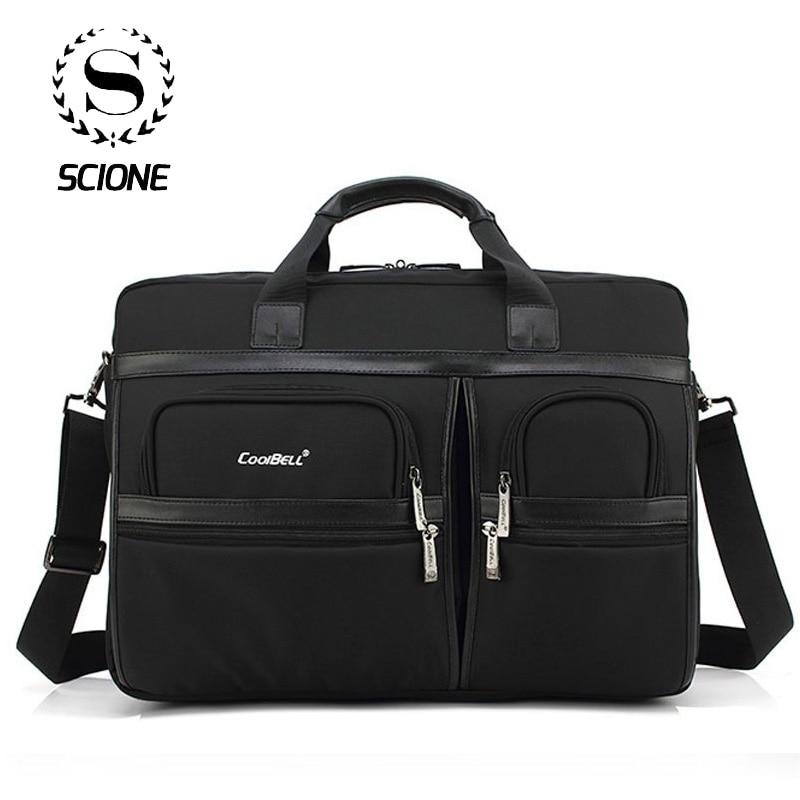 Scione Men Laptop Briefcases Office Bags For Men Women Large Shoulder Crossbody Bags Office Handbag