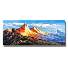 Golden Hill Paintings Hand Painted Modern Abstract Oil Painting On Canvas Wall Art Picture For Living Room Home Hotal Decor