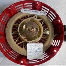 GX390 стартер со стальной пластиной, трещотка для HONDA GX340 GX420 11HP 13HP 4T двигатели перемотки шкив крышка веревка сцепление тяга старт