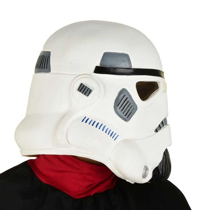 Darth Vader หน้ากากฮาโลวีน cosplay Star Wars Imperial soldier หมวกนิรภัยสีขาวมาสคาร่า de latex realista masquerade party หน้ากาก COS