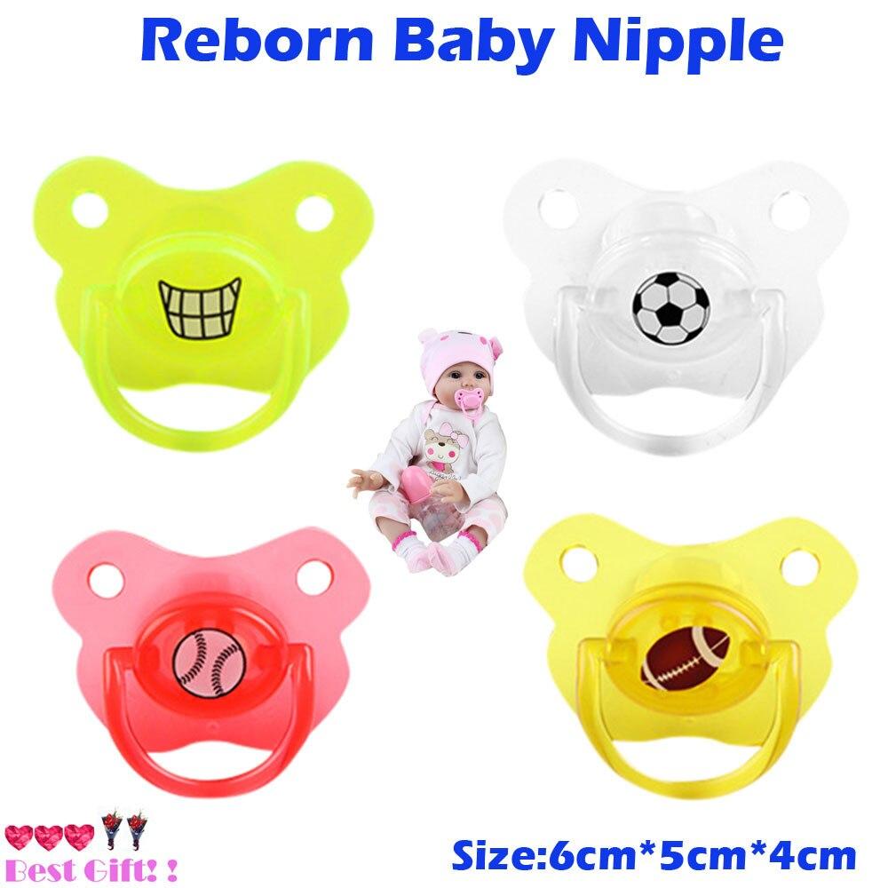 1PC Plastic  High Quality Newest Fashion Simulation Dolls Reborn Doll Baby Toy Cute Gift Baby Nipple