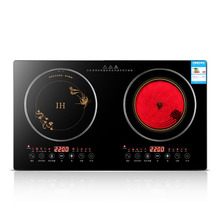 Induction Cooker Electromagnetic Double-Stove Household 2200W Stove-Table Embedded Ceramic