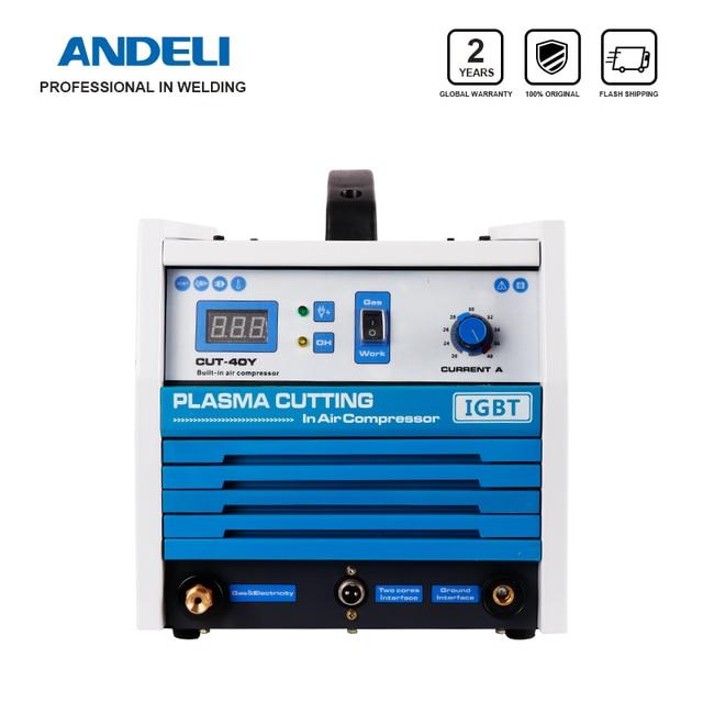 ANDELI 지능형 휴대가 용이함 내장형 공기 펌프 플라즈마 절단기 CUT 40Y 압축기가있는 플라즈마 커터