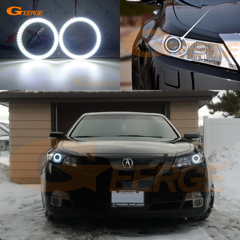 Excellent smd led Angel Eyes kit halo rings Ultra bright illumination DRL For <font><b>Acura</b></font> <font><b>TL</b></font> <font><b>2009</b></font> 2010 2011 image
