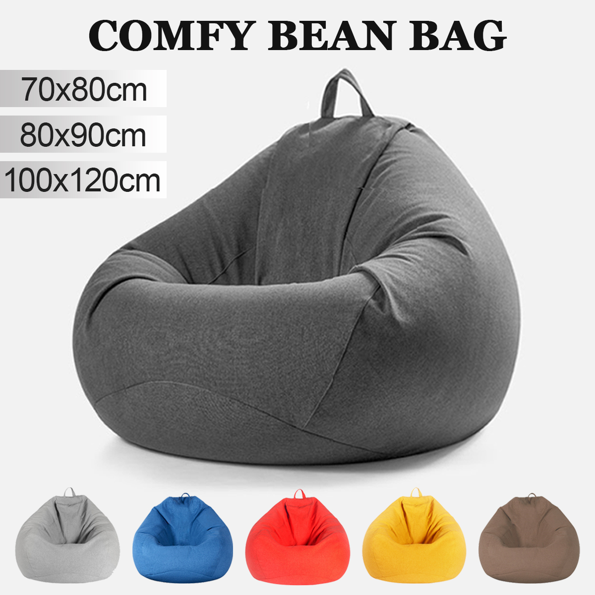 Lazy Beanbag Sofas Cover Chairs Without
