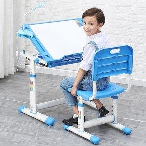 2020 Children Desk and Chair Set Multifunctional Ergonomic Student Adjustable Study Table Kids Writing Desk Combination Desktop