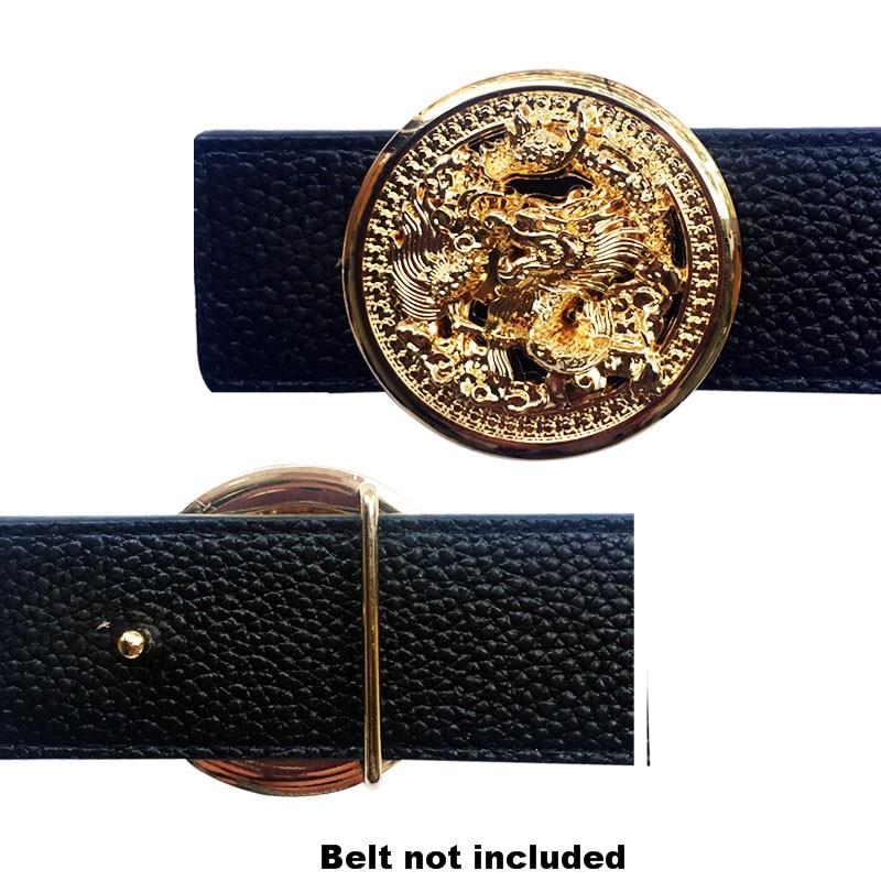 Dragon Buckle For Men's Belt  Suitable For 4 Cm Width Belts Luxury Accessories