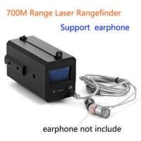 LE033 Mountable Mini Afstandsmeter Ondersteuning Oortelefoon Lezen Data 700M Range Night Riflescope Range Finder Met Oled-scherm
